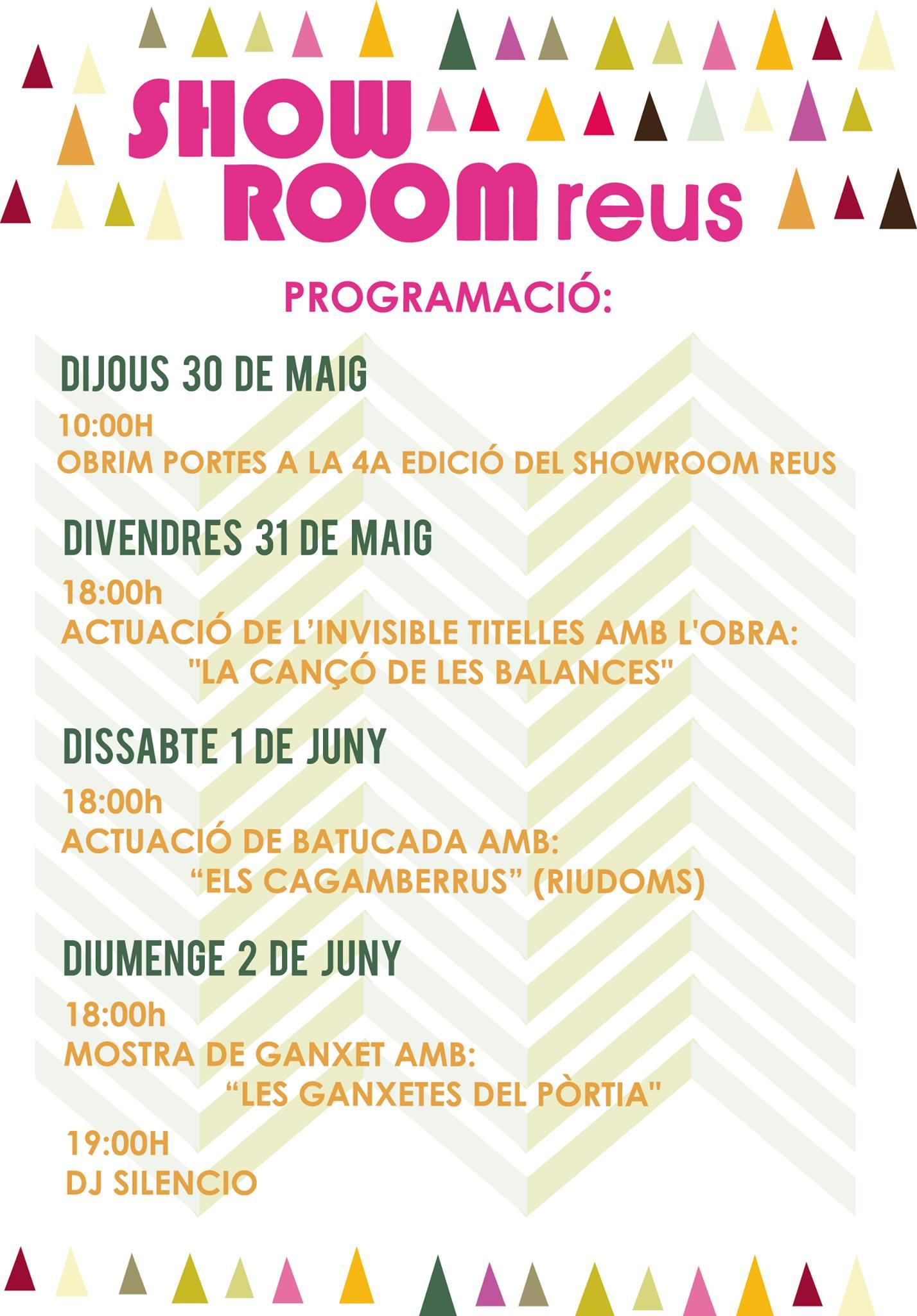 Programació Mercat d'Artesania Reus maig 2013
