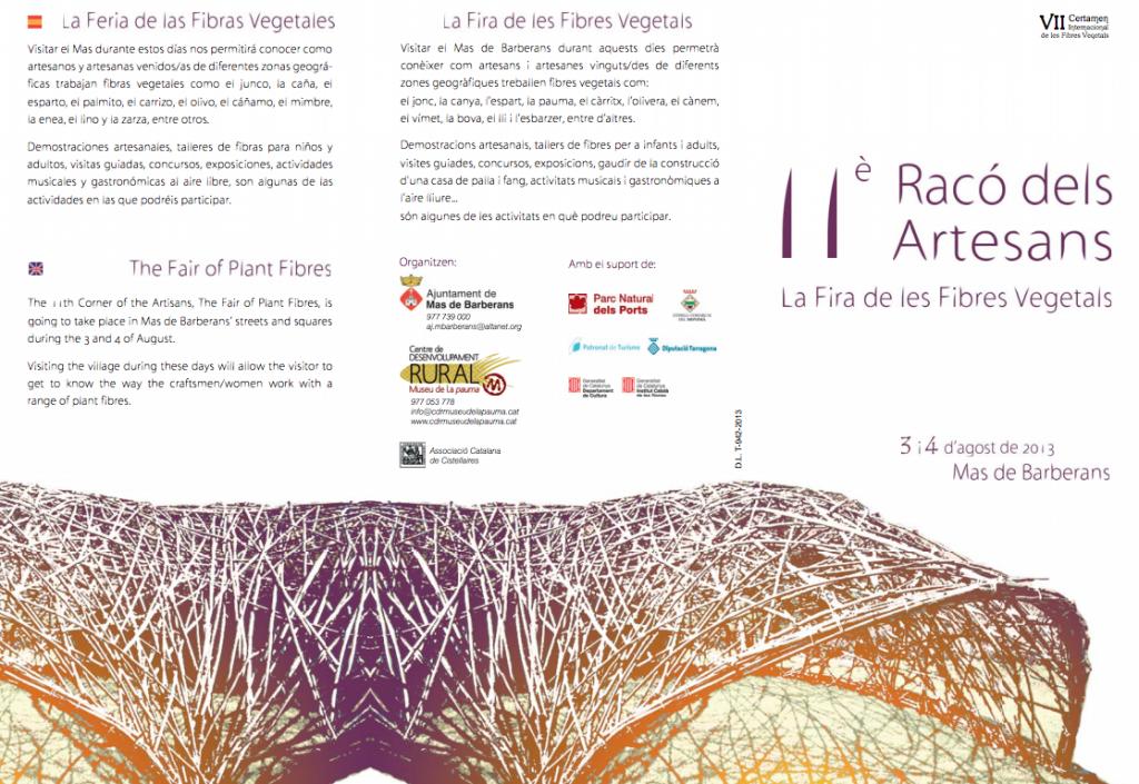 11e Racó dels Artesans La Fira de les Fibres Vegetals 2013