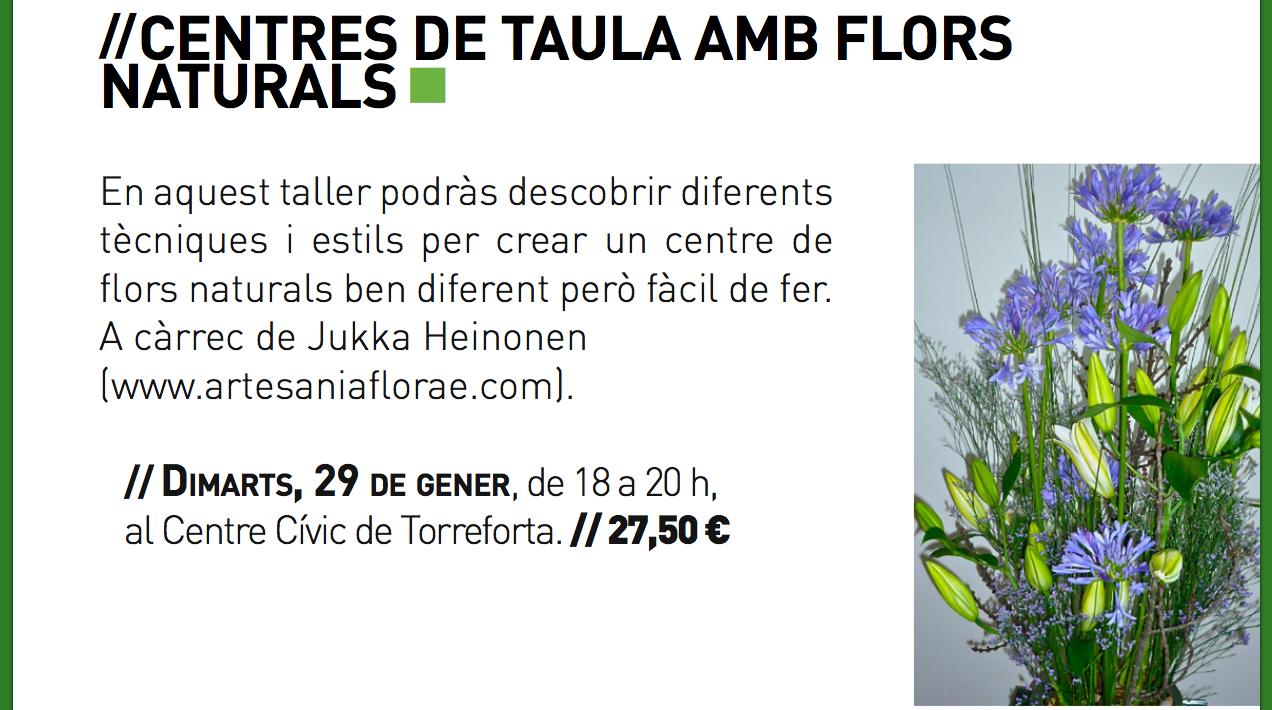 Centres de Taula amb Flors Naturals 29.01.2013 en CC Torreforta, Tarragona