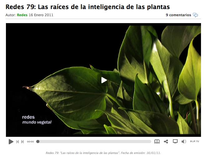 Redes/La inteligencia de las plantas
