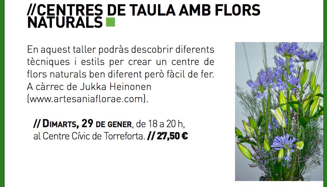 Centres de taula amb flors naturals 2012-2013