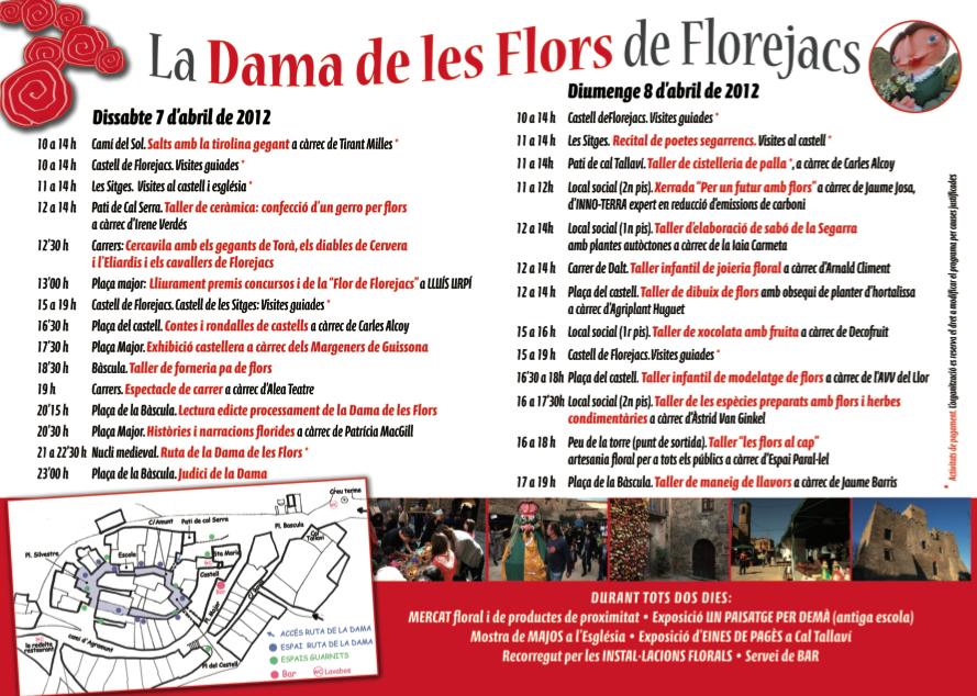 Programació de la Fira de les Flors de Florejacs 2012