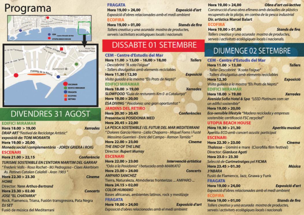 Programa de Posidonia Festival Sitges 2012
