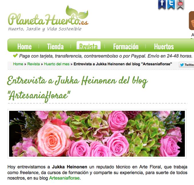 Blog Planeta Huerto y la entrevista de artesaniaflorae