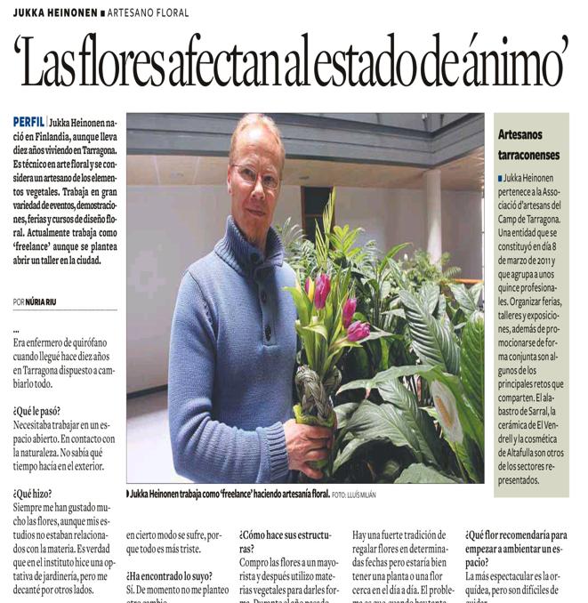 Entrevista de Jukka Heinonen en Diarí de Tarragona