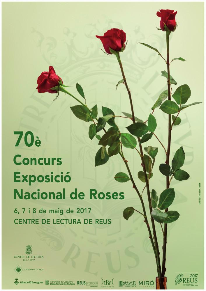 Cartell 70è Concurs-Exposició Nacional de Roses. Reus, maig 2017